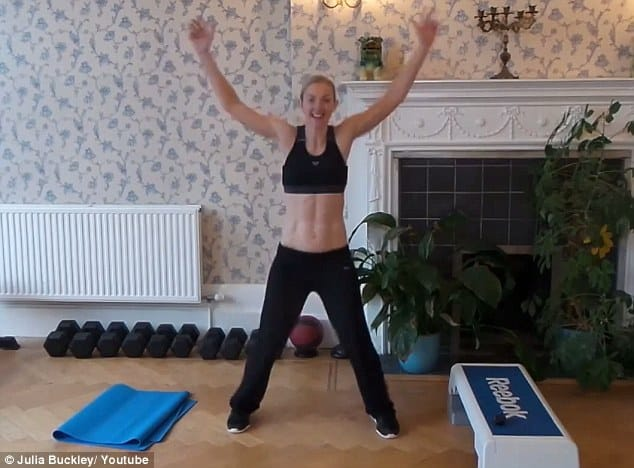 Jumping jacks: Another move for raising the heart rate and burning calories