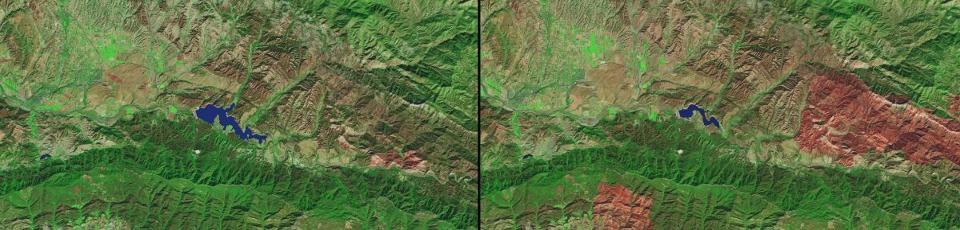 NASA's Images of Change: Drought in Southern California (Credit: NASA)
