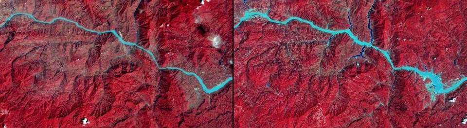 NASA's Images of Change: Three Gorges Dam (Credit: NASA)